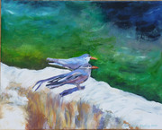 FOR SALE Inca terns acrylic painting